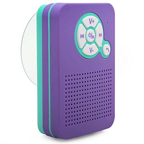 Aduro AquaSound WSP40 Waterproof Shower Bluetooth Portable S