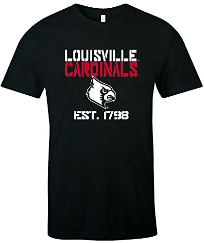 - NCAA Louisville Cardinals Est Stack Jersey Short Sleeve T-Shirt, Black,X-Large
