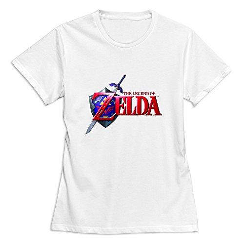 Women's Legend Zelda Ocarina Time Customized 100% Cotton White T-Shirt By Mjensen