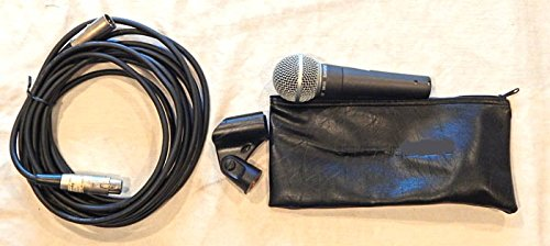 Shure VINTAGE SM58-LC Cardioid Dynamic Studio Microphone (NO WS) W/ Pouch, Clip, 20 FT Cable - Shure 2003 - VINTAGE USED Recording Studio Gear graded 9.6 - Cardioid Clip