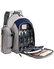 BE NOMAD SE970B - Mochila para pícnic (aislamiento térmico, para 4 personas) - azul/gris