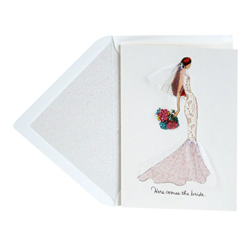 Hallmark Signature Wedding Card, Engagement Card, or Bridal Shower Card (Here Comes the Bride)