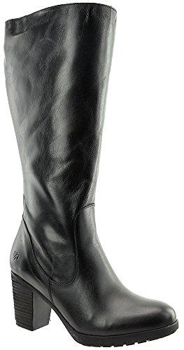 JJ Footwear Damen Stiefel Leder Potton XXL Schwarz Street 37