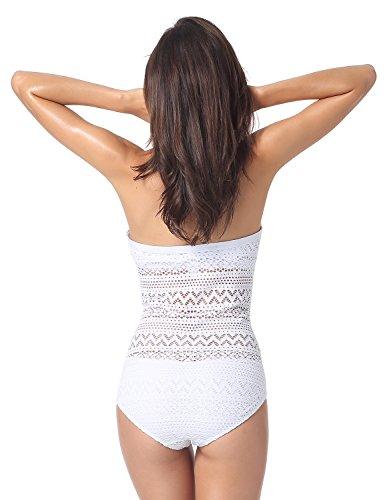 Dobreva - Bañador Halter Anudado Al Cuello Traje De Baño Para Mujer Blanco