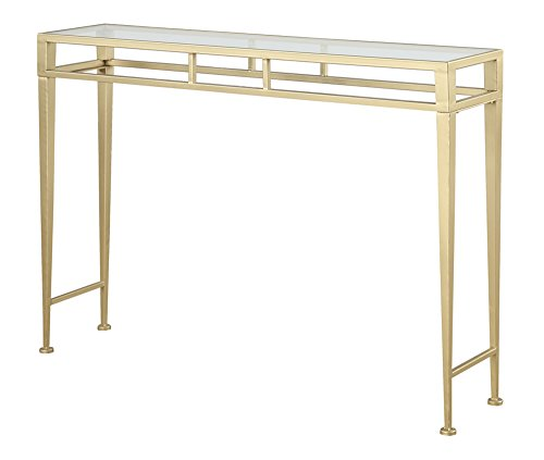 Convenience Concepts Coast Collection Julia Hall Console Table, Gold ()