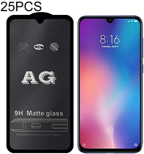 LGYD 25 PCS AG Matte Frosted Full Cover Tempered Glass for Xiaomi Redmi Note 5 Pro