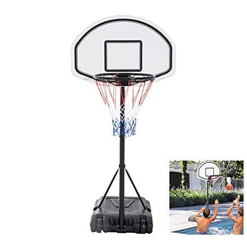 (Hommoo Poolside Basketball Hoop Swimming Pool Kids Junior Adjustable Height Portable Basketball System Backboard Stand Pool Toy)