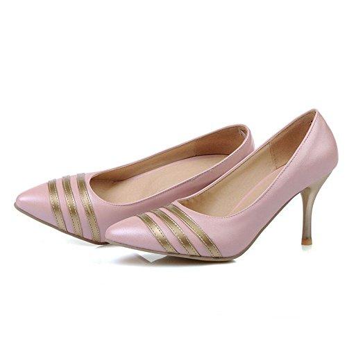 LongFengMa Women Stieltto Pumps Kitten Heels Pointed Toe Dress Shoes Wedding Party Office Shoes Pink 6i0K9aZX
