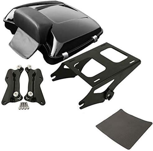 TCMT Razor Tour Pack Trunk Backrest Mount Rack Docking Kit Fits For Harley Touring Models 2014-2020 Black, Style B