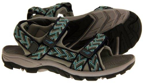 Réglables ALP209 Grey Randonnées Gola Velcro Sport Sandales Blue amp; Navy Femmes gF75wqC5x