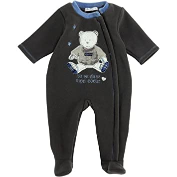 043d9381eeb7d Absorba - Surpyjama polaire chocolat - 18 mois  Amazon.fr  Bébés ...