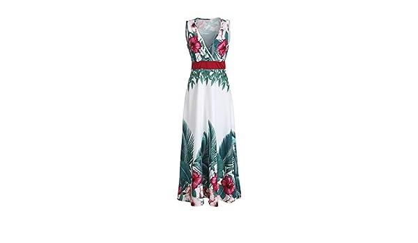zysymx Elegante Vestido de Fiesta de Verano de Mujer Bohemia de ...