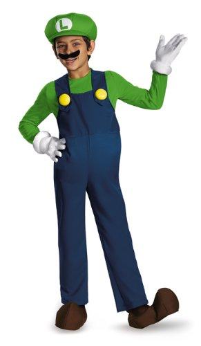 (Disguise Nintendo Super Mario Brothers Luigi Prestige Boys Costume,)