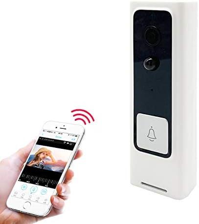 それはあなたにとって完璧な選択です 高品質M200B無線LANインテリジェントスクエアボタンビデオドアベル、サポート赤外線モーション検知&適応レート&双方向インターホン&リモート/PIRウェイクアップ(ホワイト) (Color : White)