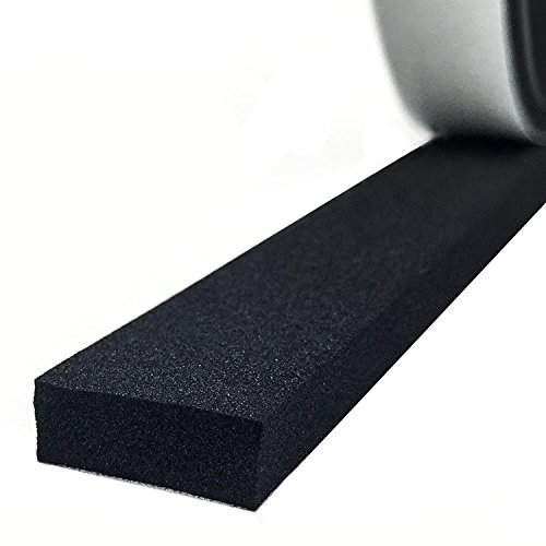 Adhesive Foam Tape, High Density Sound Proof Insulation Closed Cell Foam Seal Weather Stripping 1/4 Inch Wide X 1/8 Inch Thick X 50 Feet Long (1/4in 1/8in)