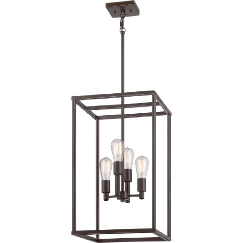 Quoizel NHR5204WT New Harbor 4-Light Foyer Piece, Western Bronze