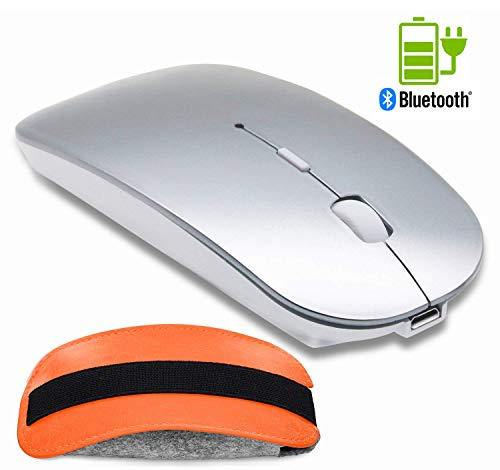 Bluetooth Wireless Mouse and Mouse Case Set - Tsmine Rechargeable Gaming Mouse Mute Wireless Optical Mice for MacBook,Notebook,Laptop,PC,Tablet(Not for iPad and iPhone)