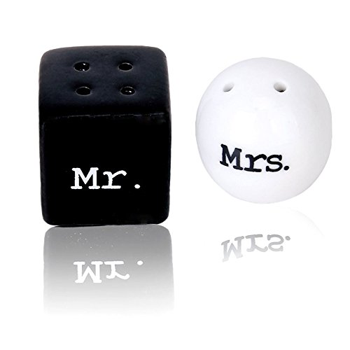 Pepper And Salt - Salt And Pepper Mr. Mrs. Round Ceramics Black White - Jacket Vintage Butter Black Pepper Labels Rinds Nautical Ceramic Keychain Lunch Serve Table Chips Office Outdoor Automatic