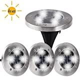 Maggift Solar Ground Lights,Garden Pathway Outdoor In-Ground Lights with 4 LED (4 Pack) (White)