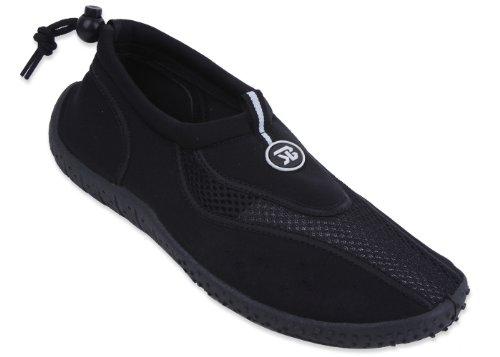 Free Brand New Women's Athletic Water Shoes Aqua Socks,8 B US,Black