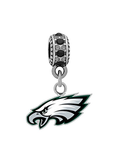 Philadelphia Eagles Logo Charm Fits European Style Large Hole Bead Bracelets Philadelphia Eagles Charm