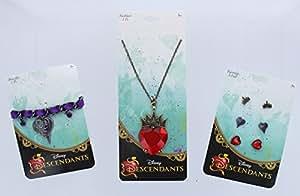 Amazon Com Disney Descendants 5pcs Jewelry Set Necklace Earrings Bracelets Health