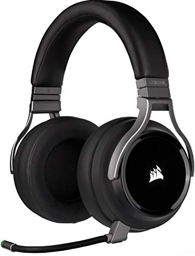 Corsair Virtuoso RGB Wireless High-Fidelity Gaming Headset (7.1 Surround Sound, Memory Foam Earpads, Omni-Directional Microphone with PC, PS4, Switch and Mobile Compatibility) - Carbon