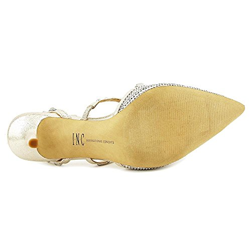 INC International Concepts Frauen Carma2 Spitzenschuhe Knoechel Riemen D-Orsay Pumps Pearl Gold