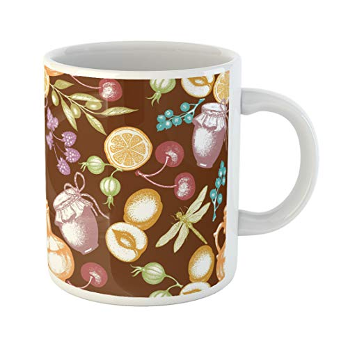 Semtomn Funny Coffee Mug Orange Agricultural Harvest Time Fresh Fruits and Berries Agriculture 11 Oz Ceramic Coffee Mugs Tea Cup Best Gift Or Souvenir