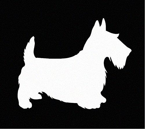 Scottie (Scottish Terrier) Dog Vinyl Car Window Decal Sticker ()