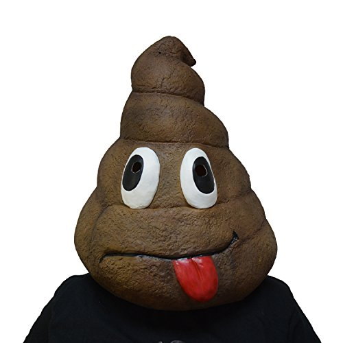 Poo Costumes (Amazlab Emoji Poo Mask for Halloween Costume Party Decorations, Halloween Props, Halloween Supplies)