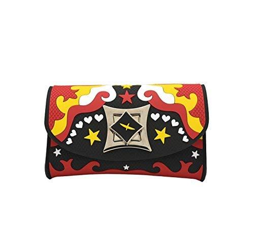 Leplas Iris Cowgirl Femme Pochette Rouge Et Jaune Lp201-01a