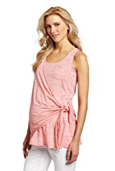 Maternal America Women's Maternity Side Wrap Tank Top, Oyster, X-Large