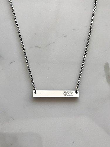 - Phi Sigma Sigma Sorority Necklace Greek Life Bid Night Gift Big Little Beta Gamma Alpha Delta Sigma