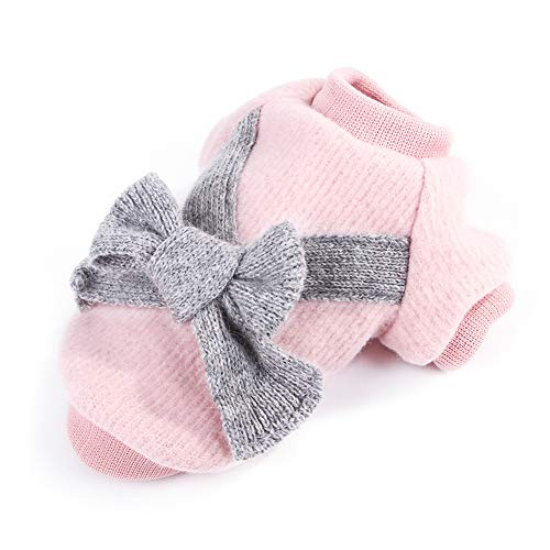 Cute Pet Puppy Cat Warm Jumper Sweater Bow Knitwear Coat Apparel Clothes Sweatershirt Winter Flannel Small Dog Chihuahua…