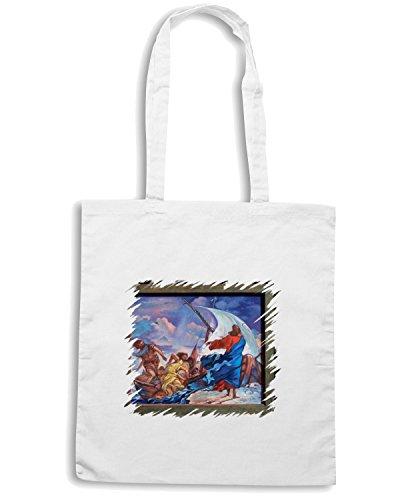 T-Shirtshock - Bolsa para la compra TDA0050 tiepolo150 marie thrse walter Blanco