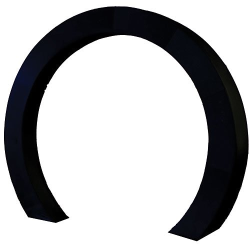 8 ft. 6 in. Black Luminescent Circle Arch Fabric Slip