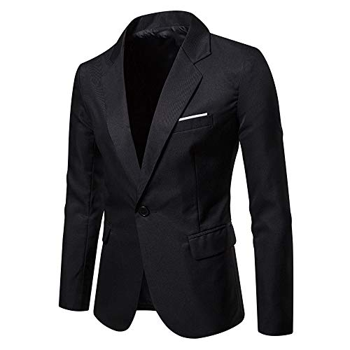 Longue Costume De Manche Business Wenyujh' Noir Mariage Homme Pour Loisir Bouton Un Tailleur Affaires Veste Top Blazer Haut w1qn1AX