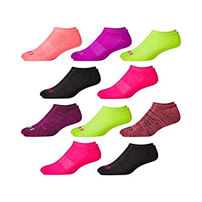 Avia Women's 10 Pack Athletic Low Cut Socks (Assortment, Shoe Size: 4-10) at Women's Clothing store