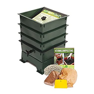 Worm Factory DS3GT 3-Tray Worm Composter, Green