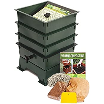 Nature's Footprint Worm Factory DS3GT 3-Tray Worm Composter, Green