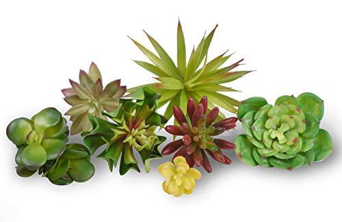 Y.M250 Fake Artificial Succulent Plants 7 Pcs Mixed Unpotted Fake Green Stems for DIY Home Garden Wall Decor Flower Arrangement Decorative Desk Plant, Shelf Decor, Small Decorations Live by Y.M250