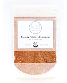 Primal Palate Organic Spices, Meat & Potatoes Seasoning, Certified Organic, 6.9 oz Resealable