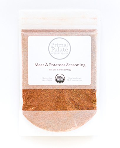 Primal Palate Organic Spices, Meat & Potatoes Seasoning, Certified Organic, 6.9 oz Resealable bag