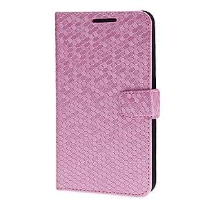 Faux del patrón del caso del tirón del cuero del diamante para Samsung Galaxy Nota 2 N7100/N7108 (rosa)