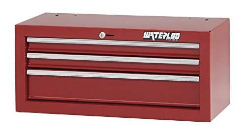 3-drawer Intermediate Tool Chest with Full-Extension Friction Drawer Slides, Red Finish, 26