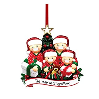 2020 New Christmas Tree DIY Decorations Lighted Pendant Faceless Old Man Hanging Ornaments Family Christmas Decor Kit (Metal-C)
