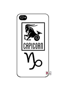 Capricorn Sign Zodiac Horoscope Symbol iPhone 4 Quality Hard Snap On Case for iPhone 4 4S 4G - AT&T Sprint Verizon - Black Frame