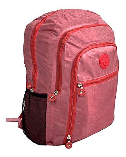 Mochila Feminina Fashion Bag Style Em Crinkle Várias Cores (SALMÃO)