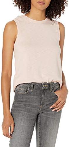 Amazon Brand – Daily Ritual Women's Cotton Modal Stretch Slub Muscle-Sleeve Tank Top